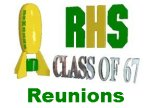 Class of '67 Reunions page